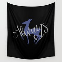 snape Wall Tapestries featuring Always by Forever Bookish Things