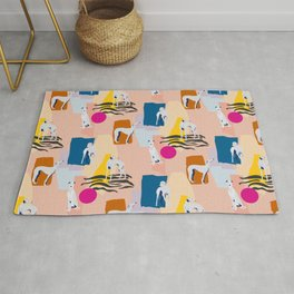 Greyhound colorful abstract pattern Rug