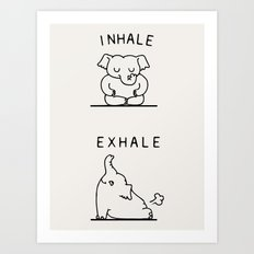 Inhale Exhale Elehant Art Print
