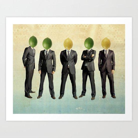 lemon and lime heads Art Print