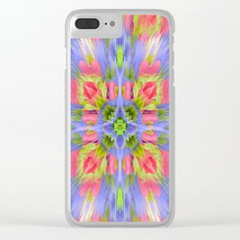 Deconstructed Flowers Clear iPhone Case