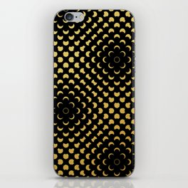 Black and gold pattern iPhone Skin