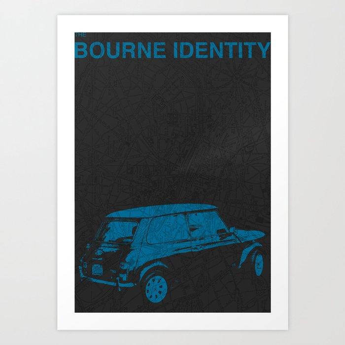 Bourne Map Art Print