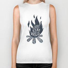 Just Stay Wild Biker Tank
