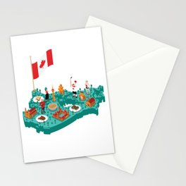 Canada Proud Canadian Flag Gift Stationery Cards