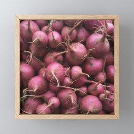 Farmer's Market Turnips Framed Mini Art Print