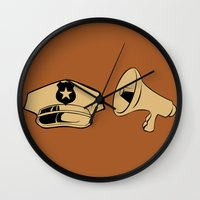police Wall Clocks featuring Police Academy by FilmsQuiz
