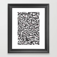 Love labyrinth Framed Art Print