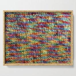 Rainbow Knit Fabric Serving Tray