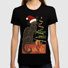Joyeux Noel Le Chat Noir Christmas Parody T-shirt