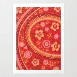Bright Red Flowers Art Print