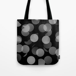 Black and Whit Dots Tote Bag