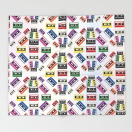 80's Cassette Overload Throw Blanket