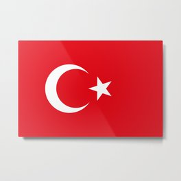 National flag of Turkey, Authentic color & scale Metal Print