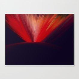 Flaming Planet Canvas Print