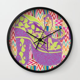 Purple Limelight Wall Clock