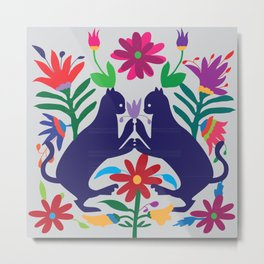 Otomi Cats Metal Print