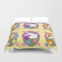 woodland Duvet Covers featuring Woodland by LeaLea Rose