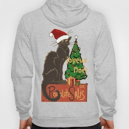 Joyeux Noel Le Chat Noir With Tree And Gifts Hoody