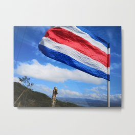 Costa Rica's Flag Metal Print