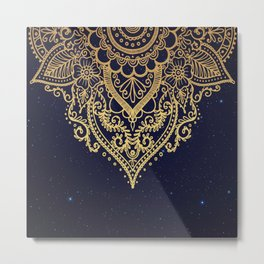 MANDALA IN STARRY NIGHT Metal Print