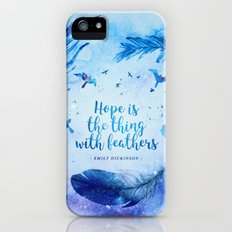 Hope is the thing with feathers Slim Case iPhone SE