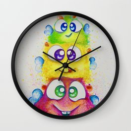 Pile it up! Wall Clock