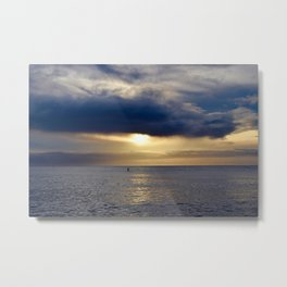 Paddle into the Sunset Metal Print