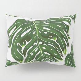 Monstera Pug Pillow Sham
