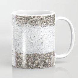 Urban Texture Photography -  White Painted Asphalt Coffee Mug