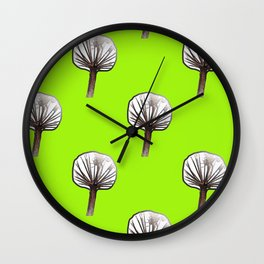 Little Trees (lime) Wall Clock