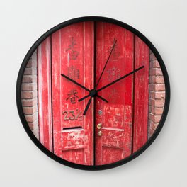 23 1/2 Fan Tan Alley Wall Clock
