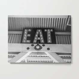 Eat Cayucos Metal Print