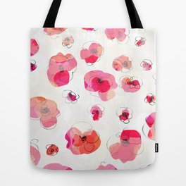 RED FLOWERS PATTERN NO. 3 Tote Bag