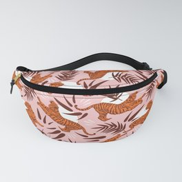 Vibrant Wilderness / Tigers on Pink Fanny Pack