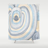 portal Shower Curtains featuring Portal by Shiny Jill