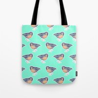 enerjax Tote Bags featuring With My Peeps by enerjax