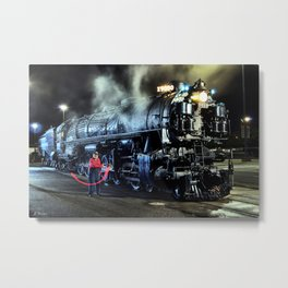 Signaling With Lantern. Lantern Up. UP 9000. Union Pacific. Steam Train Locomotive. © J. Montague. Metal Print