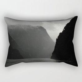 Black Cliffs Rectangular Pillow
