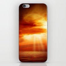 sunrise in the sea iPhone & iPod Skin