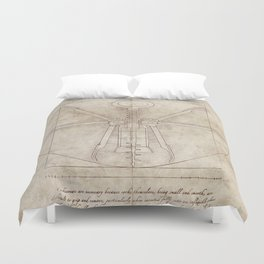 Da Vinci's Real Screw Invention Duvet Cover