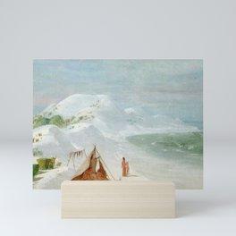 White Sand Bluffs on Santa Rosa Island Near Pensacola, 1835 Mini Art Print