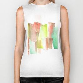 [161228] 15. Abstract Watercolour Color Study  |Watercolor Brush Stroke Biker Tank