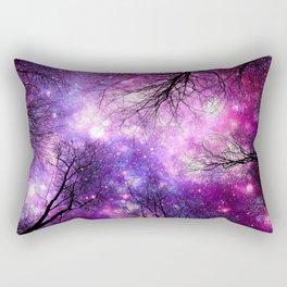 black trees pink purple space Rectangular Pillow