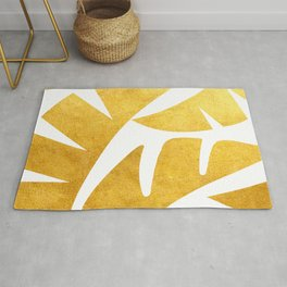 TROPICAL LEAVES - Gold I Rug