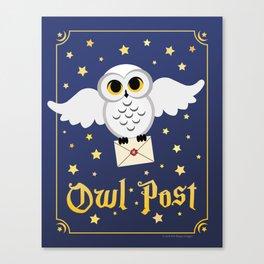 Owl Post Canvas Print