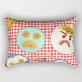 Moody breakfast :( Rectangular Pillow