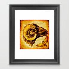 The mystic sheep Framed Art Print