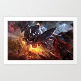 Lancer Rogue Blitzcrank League Of Legends Art Print