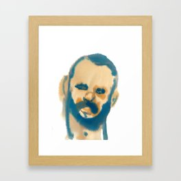 blue beard Framed Art Print